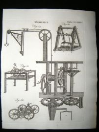 Science & Tech C1790 Antique Print. Mechanics 286